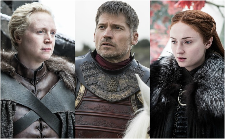 "Gwendoline Christie, Nikolaj Coster-Waldau, Sophie Turner, ""Game of Thrones"""