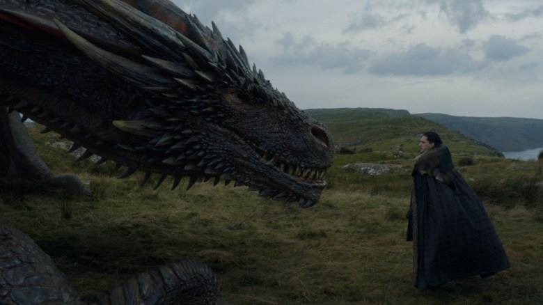 Game of Thrones Season 7 Episode 5 Jon Snow Dragon