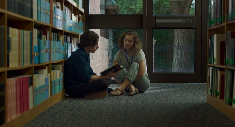 Haley Lu Richardson and Rory Culkin in Columbus