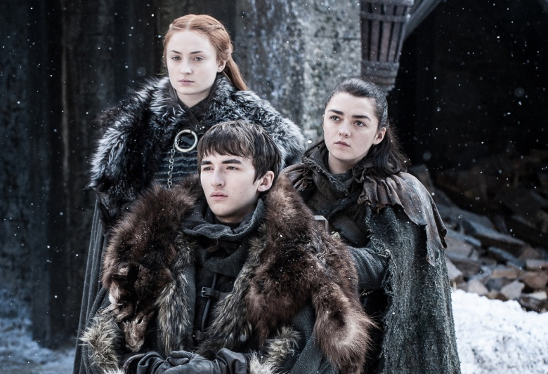"Sophie Turner, Isaac Hempstead Wright, and Maisie Williams, ""Game of Thrones"""