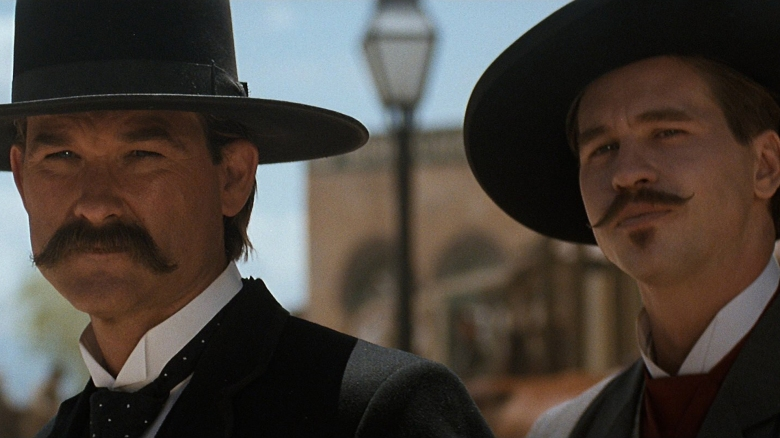 Kurt Russell and Val Kilmer in Tombstone