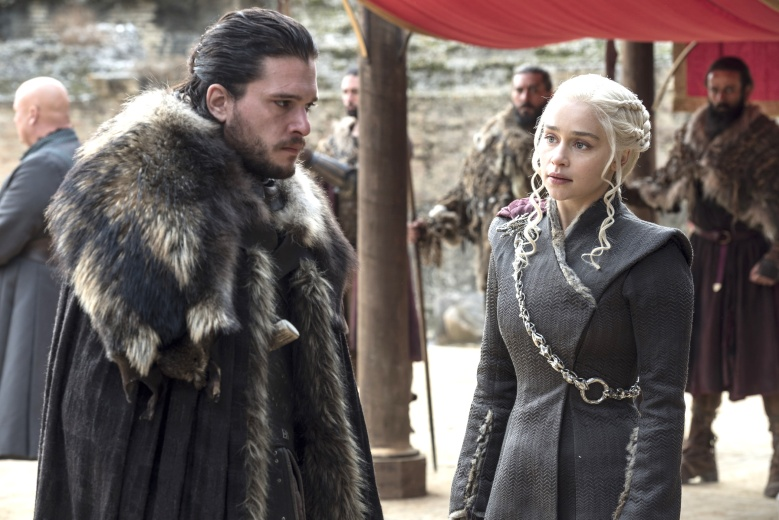 "Kit Harington and Emilia Clarke, ""Game of Thrones"""