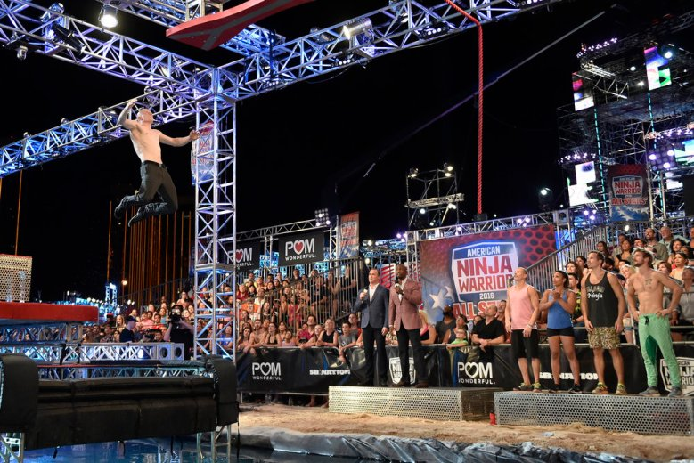 "AMERICAN NINJA WARRIOR -- ""All Stars"" -- Pictured: Kevin Bull -- (Photo by: David Becker/NBC)"