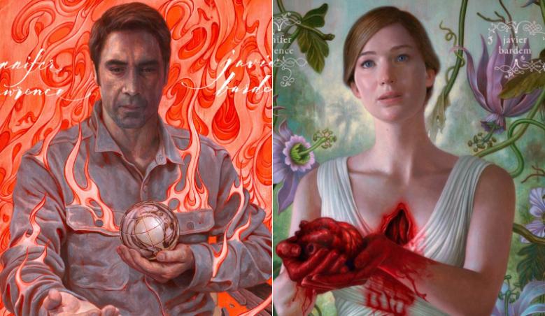 mother!' Poster Details: Jennifer Lawrence and Javier Bardem