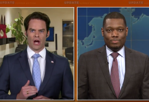 Bill Hader as Anthony Scaramucci on Saturday Night Live