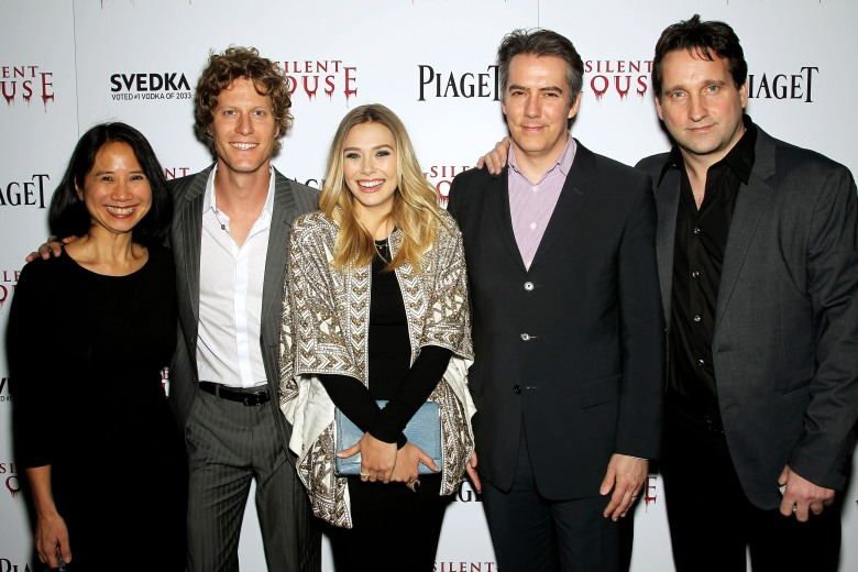 Laura Lau, Eric Sheffer Stevens, Elizabeth Olsen, Adam Trese and Chris Kentis'Silent House' film premiere, New York, America - 06 Mar 2012