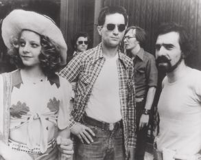 No Merchandising. Editorial Use Only. No Book Cover Usage. Mandatory Credit: Photo by Columbia/Kobal/REX/Shutterstock (5869713a) Jodie Foster, Robert De Niro, Martin Scorsese Martin Scorsese - 1976 Director: Martin Scorsese Columbia On/Off Set Taxi Driver