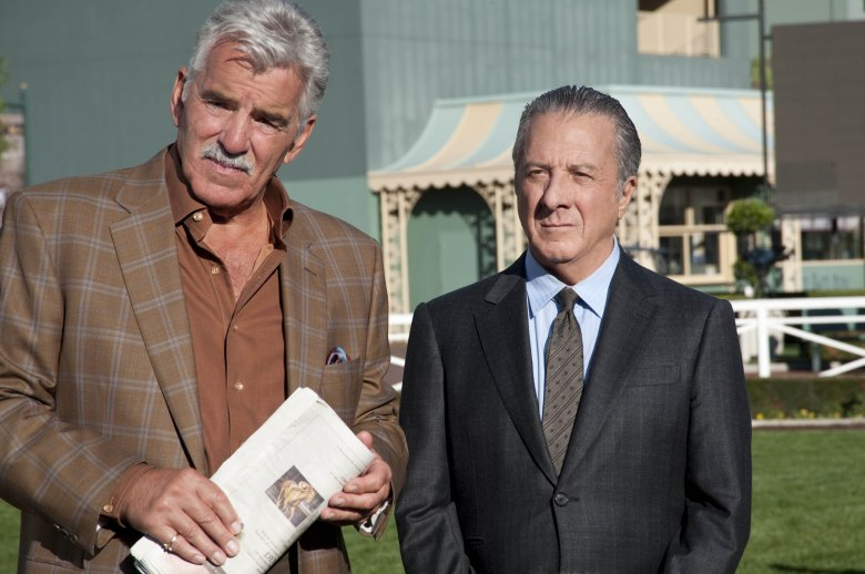 No Merchandising. Editorial Use Only. No Book Cover Usage. Mandatory Credit: Photo by HBO/Kobal/REX/Shutterstock (5882949l) Dennis Farina, Dustin Hoffman Luck Hbo USA Television Tv Classics