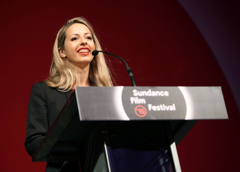 Director Crystal Moselle Accepts the Us Documentary Grand Jury Prize For 'The Wolfpack' at the 2015 Sundance Film Festival Awards Night in Park City Utah Usa 31 January 2015 the Festival Runs From 22 January to 01 February 2015 United States Park CityUsa Sundance Film Festival 2015 - Jan 2015