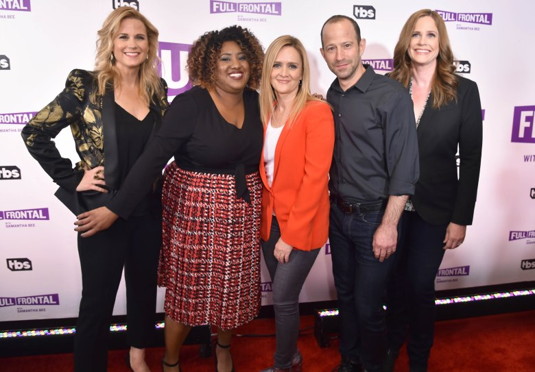 Allana Harkin, Ashley Nicole Black, Samantha Bee, Mike Rubens, Alison Camillo'Full Frontal with Samantha Bee' TV show FYC event, Arrivals, New York, USA - 16 May 2017