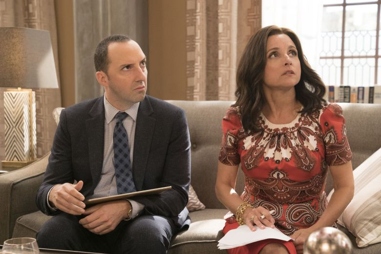 "No Merchandising. Editorial Use Only. No Book Cover UsageMandatory Credit: Photo by Kobal/REX/Shutterstock (HBO)/Kobal/REX (8877349h)Tony Hale, Julia Louis-Dreyfus""Veep"" Season 6 TV series - 2017"
