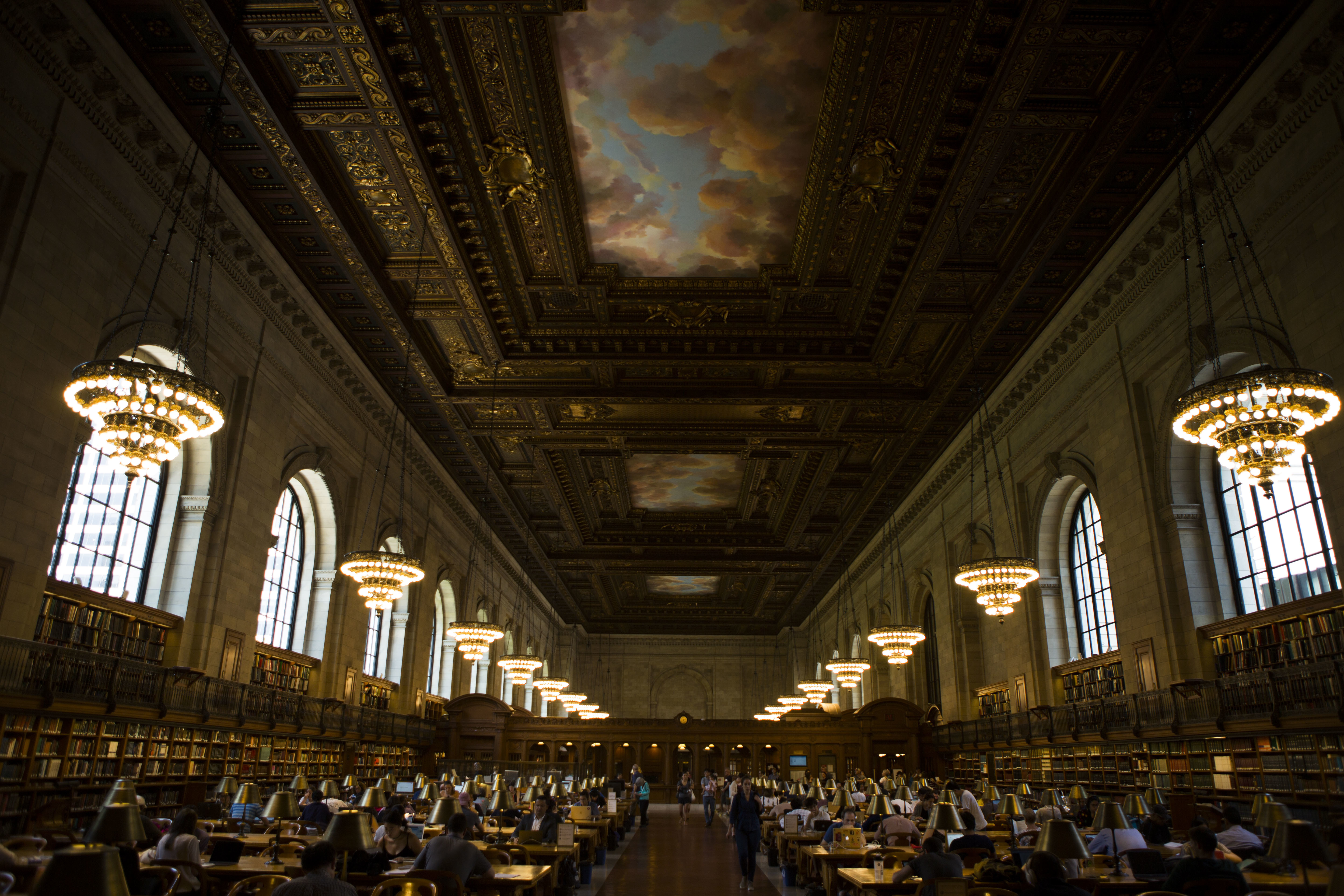 Library goers quietly work in Rose Main Reading Room at the New York Public Library in New YorkLandmarks, New York, USA - 18 Jul 2017
