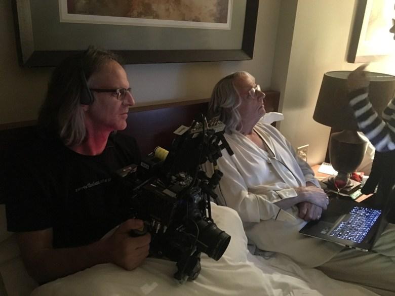 """DP Jim Frohna and Jeffrey Tambor on the set of """"Transparent"""""""