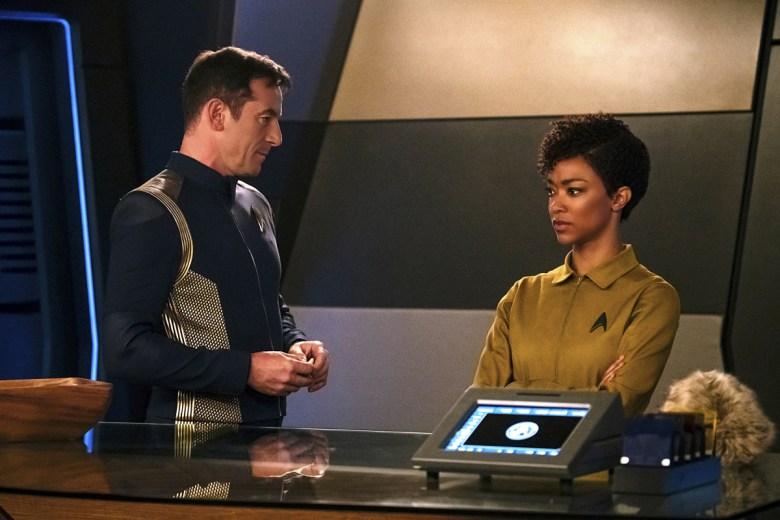 Star Trek Discovery Jason Isaacs Sonequa Martin-Green