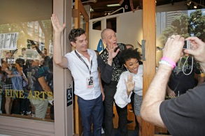 (l-r): James Frain; Doug Jones; Sonequa Martin-Green during the ÒStar Trek: DiscoveryÓ Gallery Takeover at Comic-Con 2017, held in San Diego, Ca. Photo Cr: Francis Specker© 2017 CBS Interactive. All Rights Reserved.