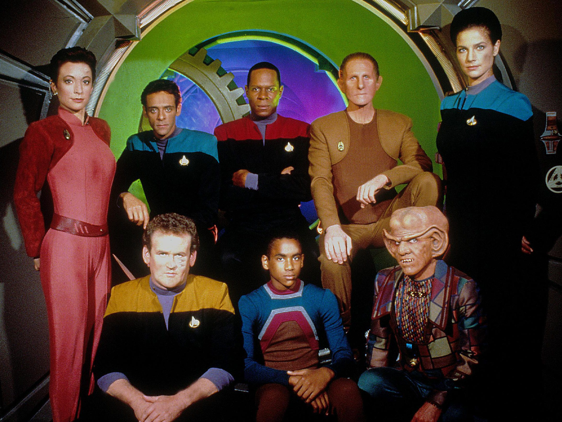 No Merchandising. Editorial Use Only. No Book Cover Usage.Mandatory Credit: Photo by Moviestore/REX/ (1613720a)Star Trek: Deep Space Nine , Nana Visitor, Siddig El Fadil, Avery Brooks, Rene Auberjonois, Terry Farrell, Colm Meaney, Cirroc Lofton, Armin ShimmermanFilm and Television