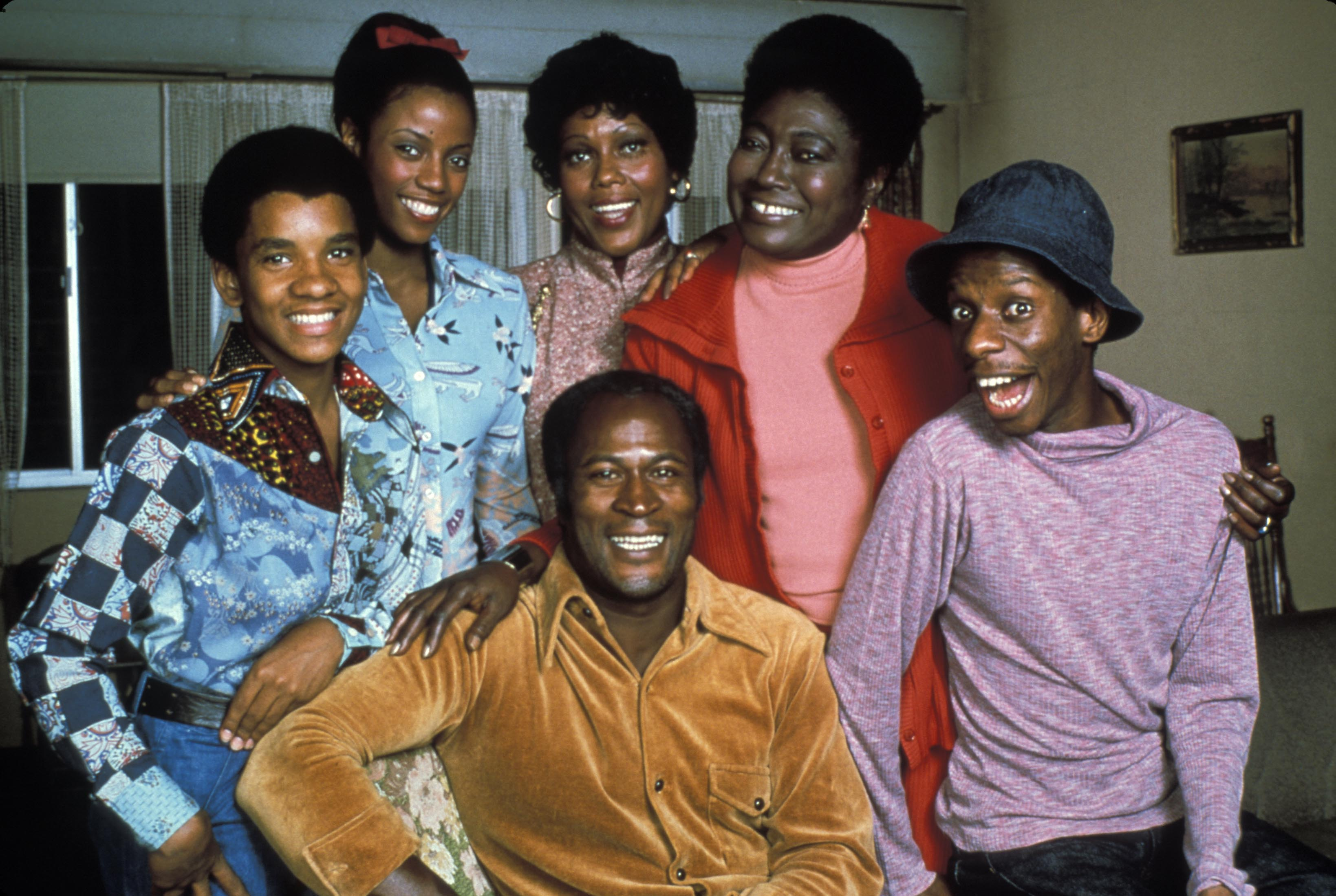 No Merchandising. Editorial Use Only. No Book Cover Usage.Mandatory Credit: Photo by Bud Yorkin/Norman Lear/Tandem/Kobal/REX/ (5877020d)Ralph Carter, Bernnadette Stanis, Ja'Net Dubois, Esther Rolle, Jimmie Walker, John AmosGood Times - 1974-1979Bud Yorkin/Norman Lear/Tandem USATelevision