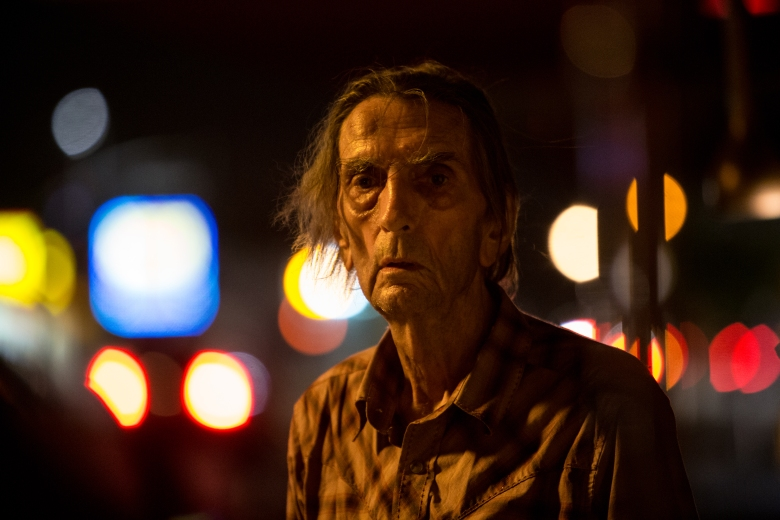 "Harry Dean Stanton as ""Lucky"""