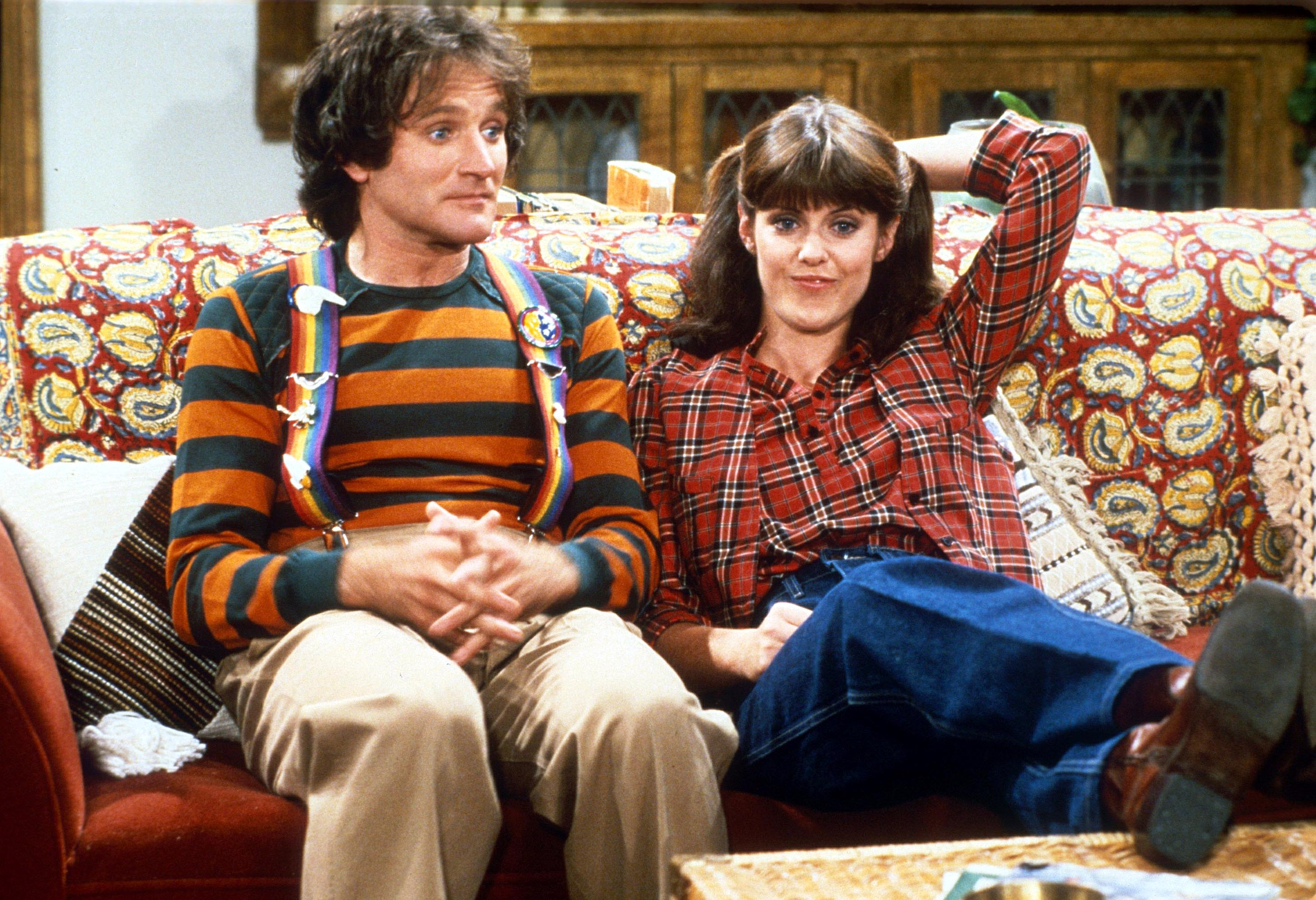 ROBIN WILLIAMS E PAM DAWBER IN 'MORK E MINDY' TVVARIOUS - 1979'MORK AND MINDY' TVVARIOUS - 1979