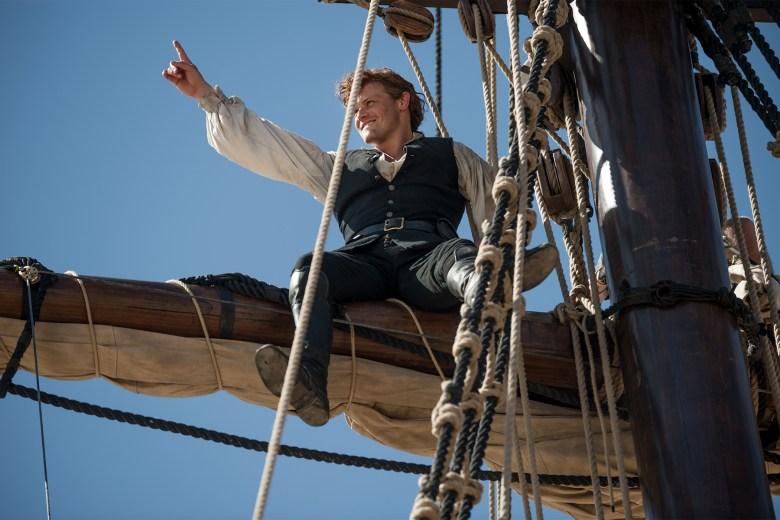 """Sam Heughan behind the scenes, """"Outlander"""""""