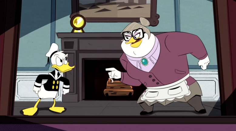 "Donald and Mrs. Beakley, ""DuckTales"""