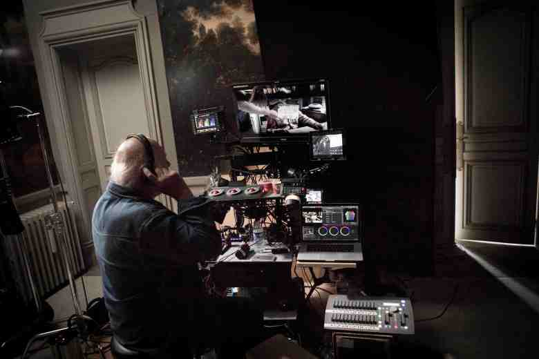 "DP Christian Berger on his control panel on ""Happy End"""