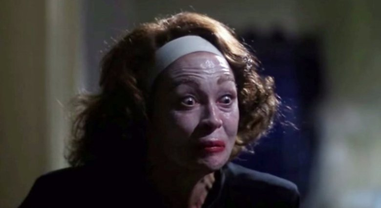 "A grab from the ""No Wire Hangers"" scene in Mommie Dearest starring Faye Dunaway and Mara Hobel."