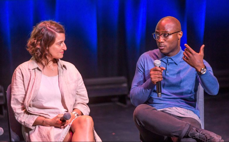 Adele Romanski and Barry Jenkins at IFP Film Week 2017