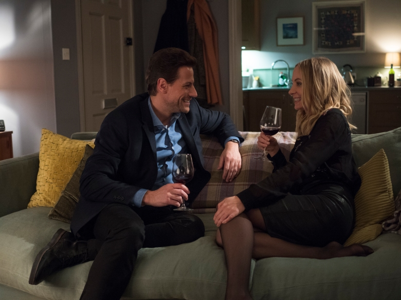 Ioan Gruffudd as Andrew Earlham, Joanne Froggatt as Laura Nielson - Liar _ Season 1, Episode 1 - Photo Credit: Two Brothers Pictures/ITV/SundanceTV