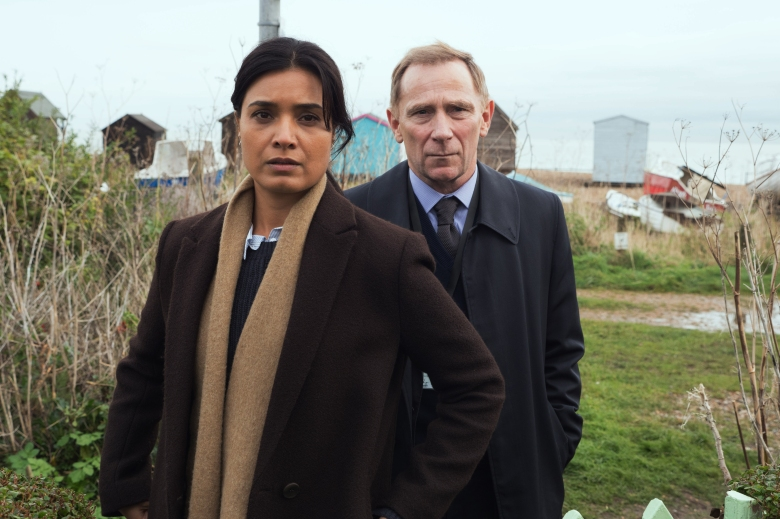 Shelley Conn as DI Vanessa Harmon, Danny Webb as DS Rory Maxwell - Liar _ Season 1, Episode 1 - Photo Credit: Joss Barratt/Two Brothers Pictures/ITV/SundanceTV