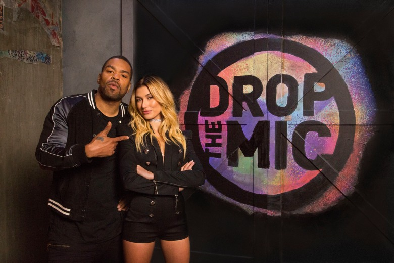 Drop The Mic - Hosts: Method Man & Hailey Baldwin. Photo Cr: Kelsey McNeal/CBS © 2017 CBS Television Studios. All Rights Reserved.
