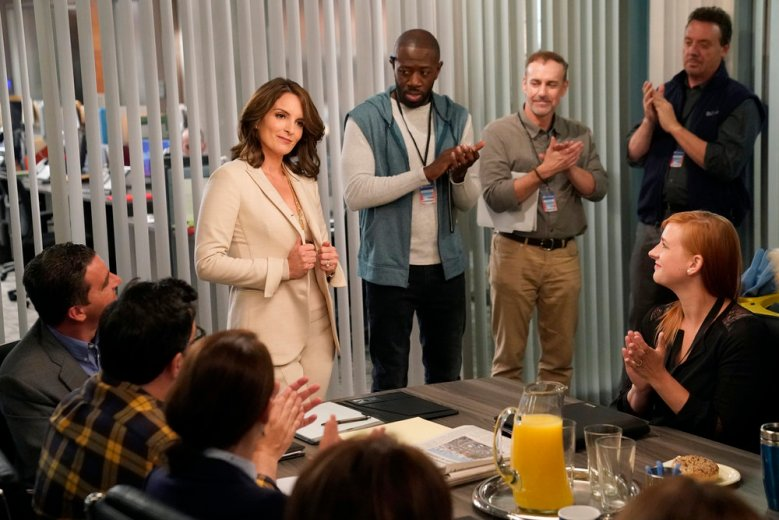 "GREAT NEWS -- ""Boardroom Bitch"" Episode 201 -- Pictured: Tina Fey as Diana -- (Photo by Greg Gayne/NBC)"