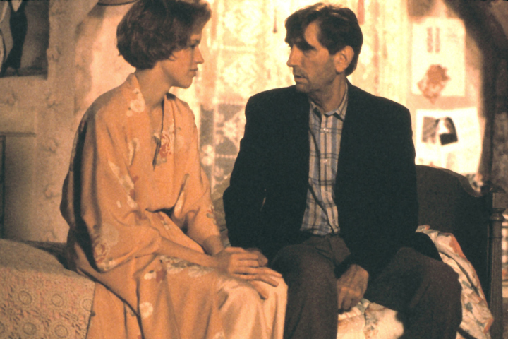 Molly Ringwald and Harry Dean Stanton in Pretty in Pink