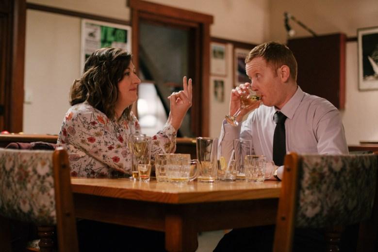 Celia Pacquola as Emma Dawes, Luke McGregor as Daniel McCallum- Rosehaven _ Season 1, Episode 4 - Photo Credit: SundanceTV