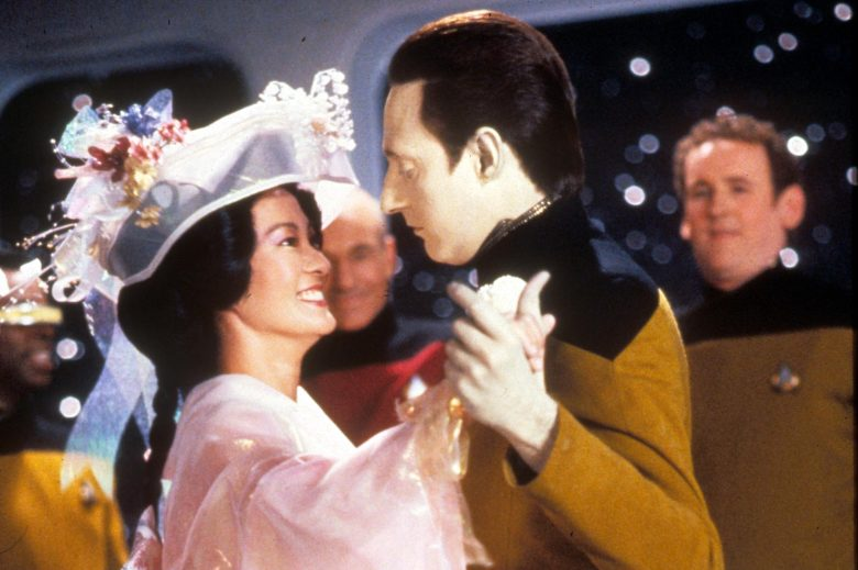 No Merchandising. Editorial Use Only. No Book Cover Usage.Mandatory Credit: Photo by Moviestore/REX/Shutterstock (1606914a)Star Trek: The Next Generation , Rosalind Chao, Brent Spiner, Colm MeaneyFilm and Television