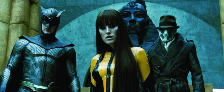 No Merchandising. Editorial Use Only. No Book Cover UsageMandatory Credit: Photo by Snap Stills/REX/Shutterstock (2207955at)Patrick Wilson as Nite Owl II, Malin Akerman as Silk Spectre II and Jackie Earle Haley as RorschachWatchmen - 2009