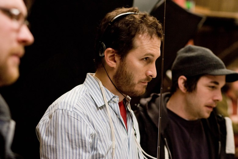 "Darren Aronofsky on the set of ""The Wrestler"""