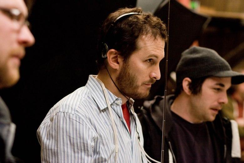 "Darren Aronofsky on the set of ""The Wrestler"""