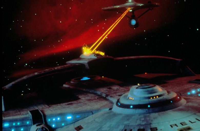 No Merchandising. Editorial Use Only. No Book Cover Usage.Mandatory Credit: Photo by Paramount/Kobal/REX/Shutterstock (5885620as)Star Trek II - The Wrath Of Khan (1982)Star Trek II - The Wrath Of Khan - 1982Director: Nicholas MeyerParamountUSAScene StillScifiStar Trek II - La colère de Khan