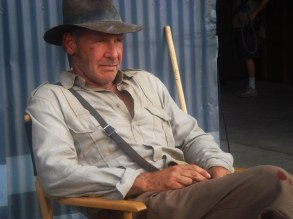 No Merchandising. Editorial Use Only. No Book Cover Usage.Mandatory Credit: Photo by Lucasfilm/Paramount Pictures/Kobal/REX/Shutterstock (5885873a)Harrison FordIndiana Jones and The Kingdom Of The Crystal Skull - 2008Director: Steven SpielbergLucasfilm/Paramount PicturesUSAOn/Off SetAction/AdventureIndiana Jones et le Royaume du Crâne de Cristal