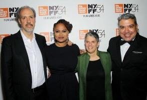 Kent Jones (Dir. NYFF), Ava DuVernay (Director), Lesli Klainberg (FSLC Exec Dir.), Eugene Hernandez (FSLC Deputy Dir.)54th New York Film Festival Premiere of the Netflix Documentary 13TH, the first-ever nonfiction work to open the Festival, USA - 30 Sep 2016