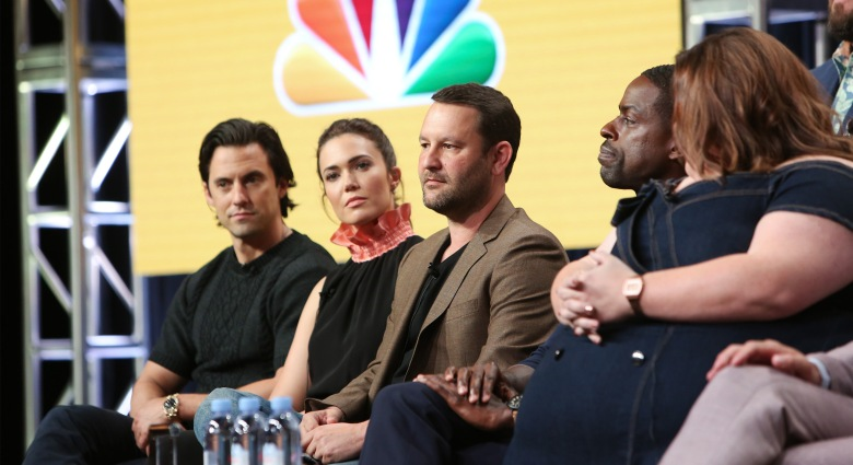 Milo Ventimiglia, Mandy Moore and Dan FogelmanNBC 'This Is Us' TV show panel, TCA Summer Press Tour, Los Angeles, USA - 03 Aug 2017