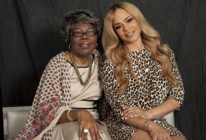 "Voletta Wallace, Faith Evans Voletta Wallace, left, and Faith Evans, right, pose for a portrait in New York. Wallace details the love for the Notorious B.I.G. as both his mother and No. 1 fan in the new, three-hour documentary, ""Biggie: The Life of Notorious B.I.G."" It debuts Monday, Sept. 4 at 8 p.m. EST on A&EVoletta Wallace and Faith Evans Portrait Session, New York, USA - 17 Aug 2017"