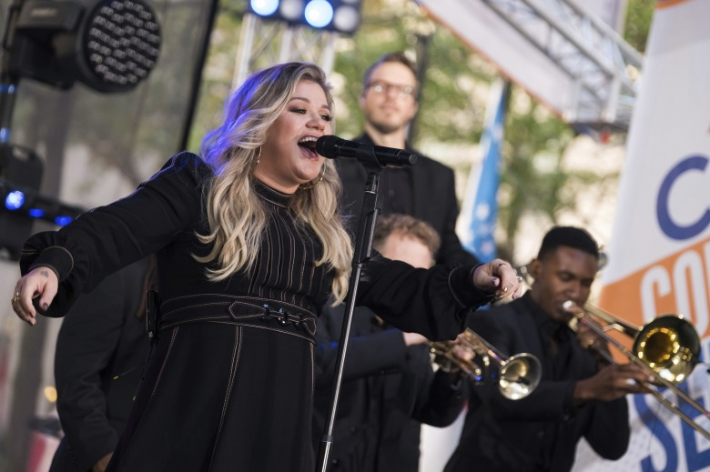 "Kelly Clarkson performs on NBC's ""Today"" show at Rockefeller Plaza, in New York Kelly Clarkson Performs on NBC's Today Show, New York, USA - 08 Sep 2017"