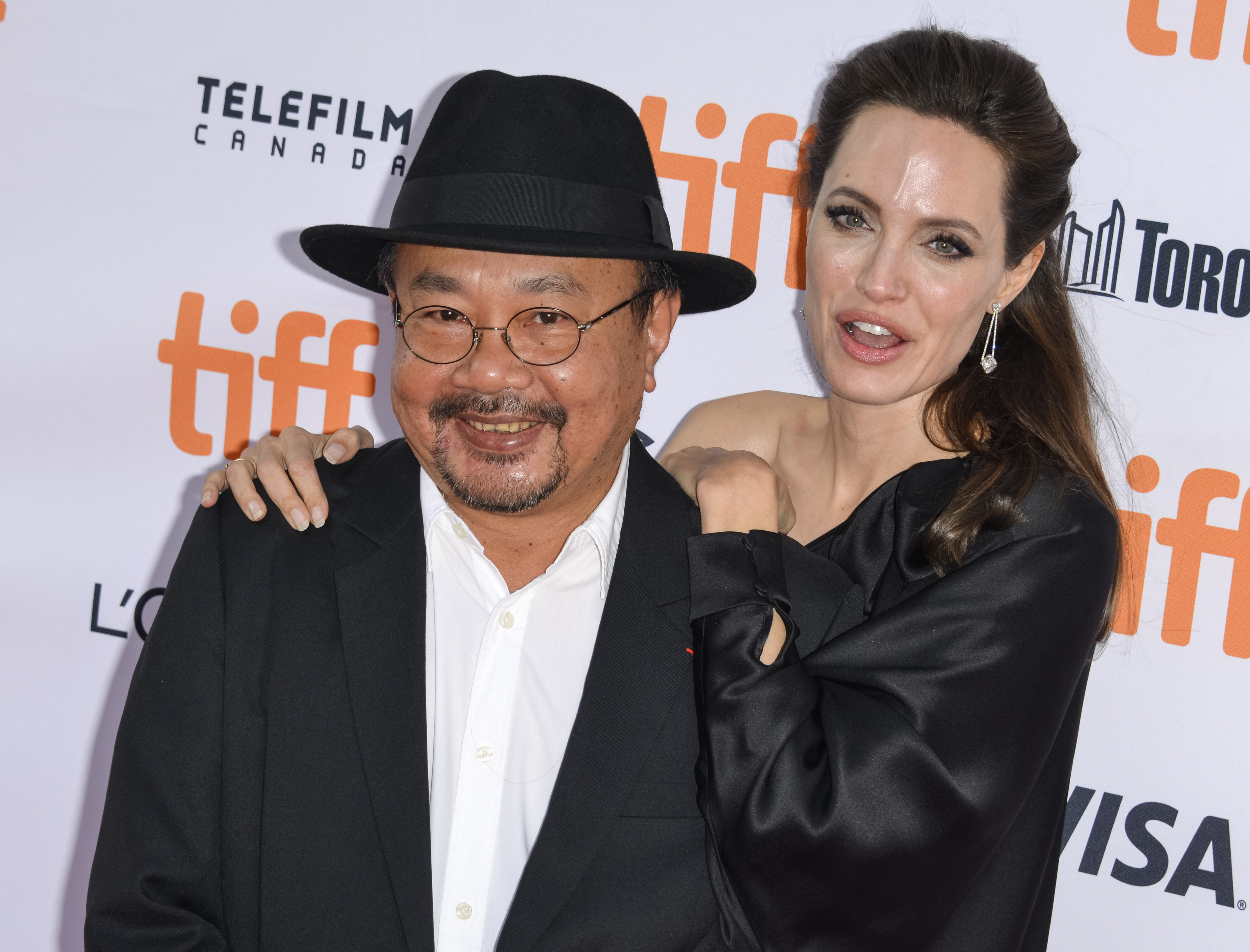 Angelina Jolie and Rithy PanhFirst They Killed My Father - Premiere - 42nd Toronto Film Festival, Canada - 11 Sep 2017 Cambodian producer Rithy Panh (L) and US director Angelina Jolie arrive for the screening of the movie 'First They Killed My Father' during the 42nd annual Toronto International Film Festival (TIFF) in Toronto, Canada, 11 September 2017. The festival runs until 17 September.