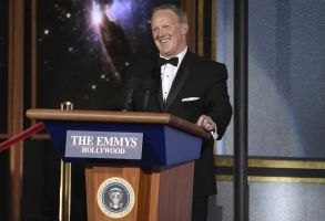Sean Spicer speaks at the 69th Primetime Emmy Awards, at the Microsoft Theater in Los AngelesAPTOPIX 2017 Primetime Emmy Awards - Show, Los Angeles, USA - 17 Sep 2017