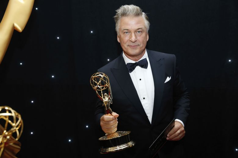 Alec Baldwin holds an Emmy statue at the 69th Primetime Emmy Awards, at the Microsoft Theater in Los Angeles69th Primetime Emmy Awards - Trophy Table, Los Angeles, USA - 17 Sep 2017