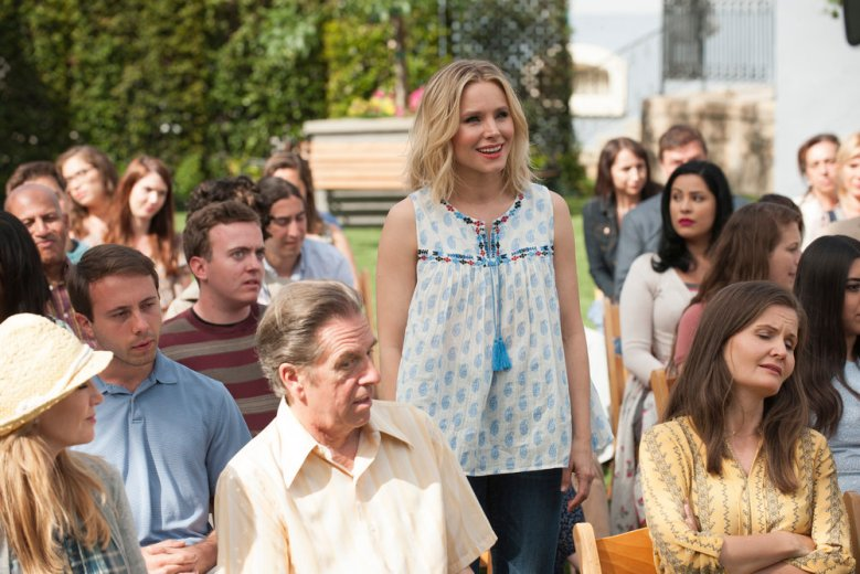 "THE GOOD PLACE -- ""Dance Dance Resolution"" Episode 203 -- Pictured: Kristen Bell as Eleanor Shellstrop -- (Photo by: Colleen Hayes/NBC)"