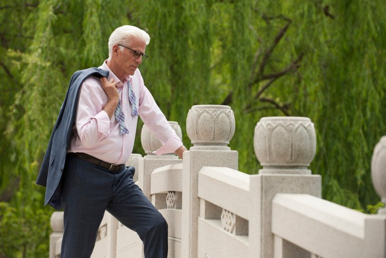 "THE GOOD PLACE -- ""Dance Dance Resolution"" Episode 203 -- Pictured: Ted Danson as Michael -- (Photo by: Colleen Hayes/NBC)"