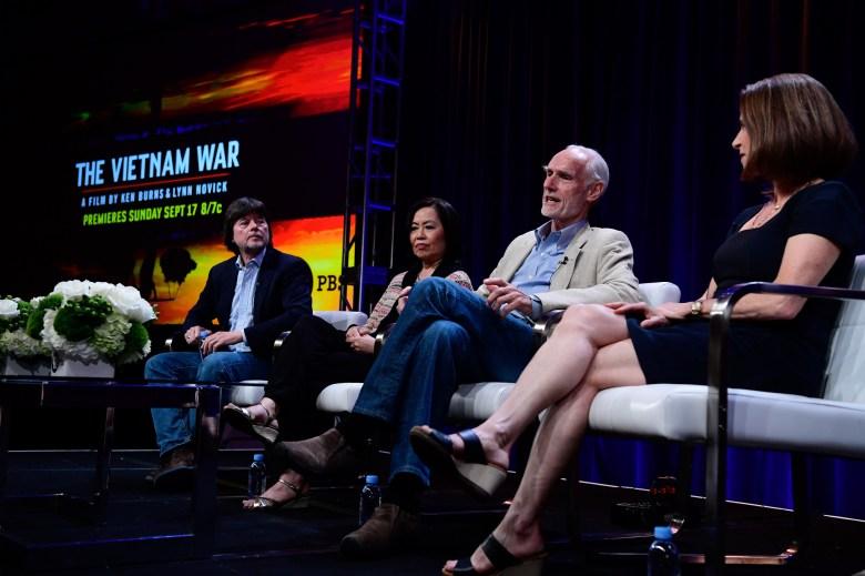 """The Vietnam War"" Television Critics Association panel: Ken Burns, Mai Elliott, Gen. Merrill McPeak, and Lynn Novick"